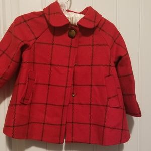 Girls 2T plaid coat